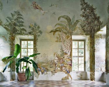 Gartenpavillon Stift Melk, AT, Fresko von Johann Wenzel Bergl, Nr. 4