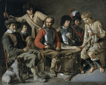 Soldiers Playing Cards (A Quarrel)