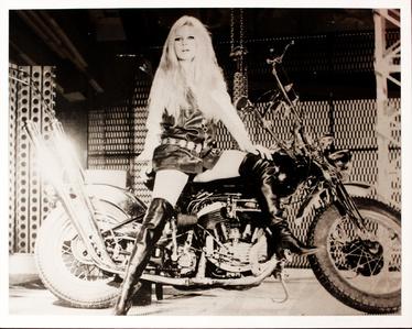 Brigitte Bardot on a bike
