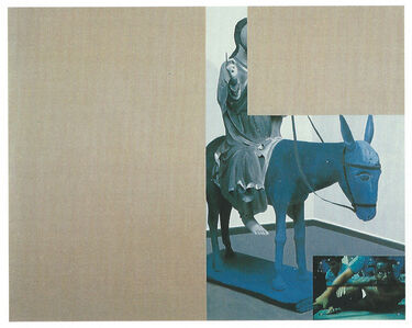 Untitled (blue donkey)
