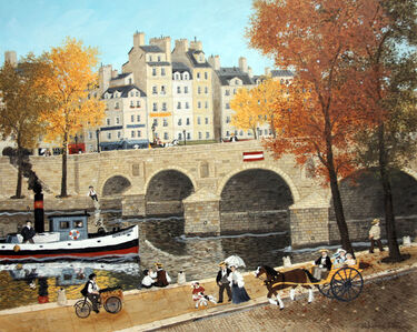 Aux pieds du Pont-Marie