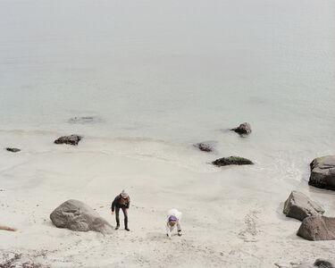 Girls Play on the Beach, Faroe Islands