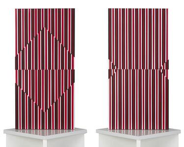 Inszeniertes Quadrat - schwarz, weiß, rot