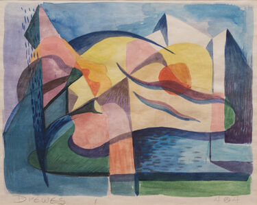Biomorphic Landscape Abstract