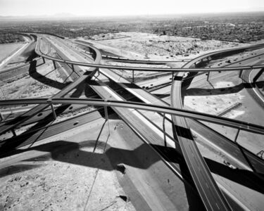 Interchange of Highways 60 and 202 Looking West; Mesa, AZ