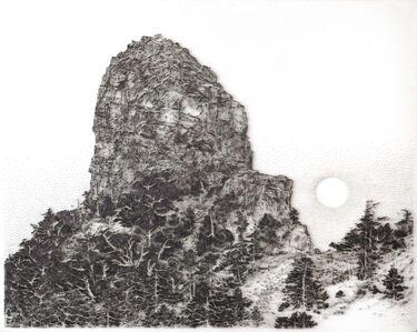Xiaobajian Mountain Veiled in Moonlight