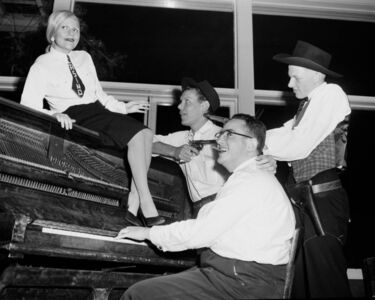 When they lifted me on to the piano, I had no choice but to oblige