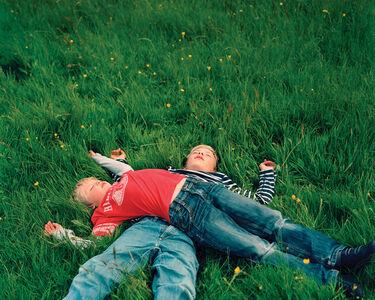 Noah and David After Playing, Svinoy, Faroe Islands
