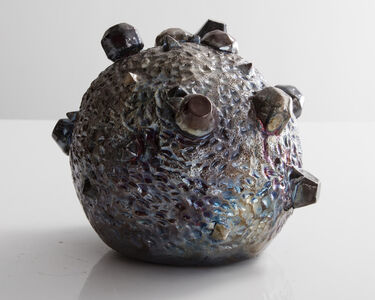 Moon Rock in ceramic with a raku glaze. Designed and made by Kelly Lamb, Los Angeles, CA, 2016.