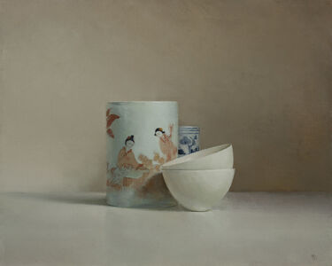 The White Bowls and Chinese Pots_Oilonlinen