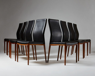 Set of eight chairs