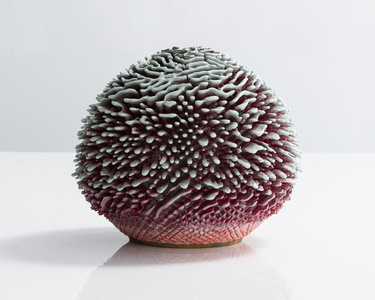 Unique, Hand-thrown Urchin Accretion