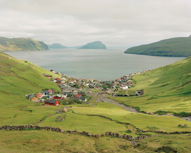 Ancient Rock Walls Surround What Was Originally a Viking Settlement, Kvivik, Faroe Islands
