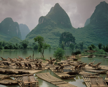 Bamboo Rafts, Little Li River, Guilin Valley, China