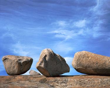 Four Granite Boulders, Bald Rock Berry Creek, California