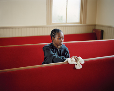 Young Boy Cleaning Church, VA