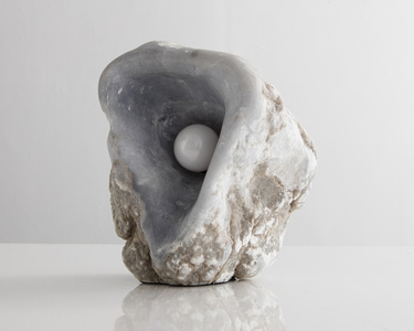 Lamp in Hand-carved Alabaster