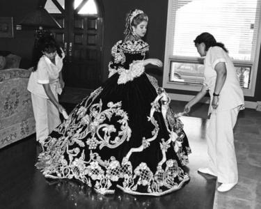 Debutante and her Maids, Laredo, Texas February 18, 1994