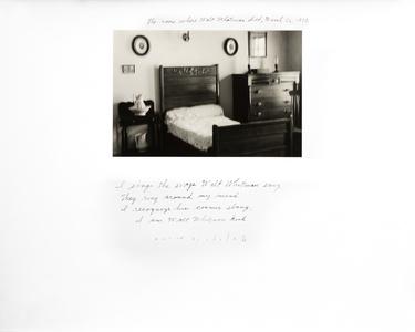 The Room Where Walt Whitman Died