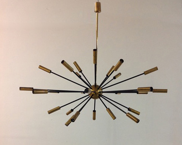 Sputnik twenty-seven light pendant lamp