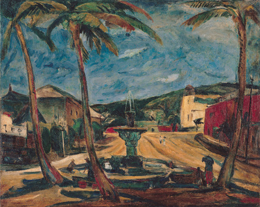 Scene with Coconut Trees