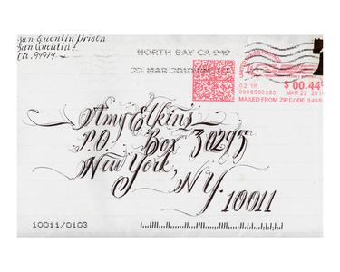Envelope Art sent from Death Row
