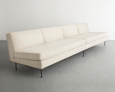 Custom upholstered four-seat sofa