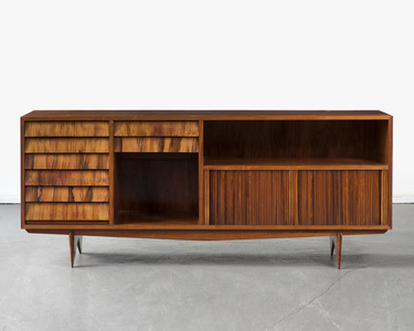 Credenza with drawers and tambor doors