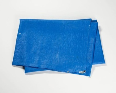 Tarpaulin (Poly-Tarp Blue) with Duct Tape