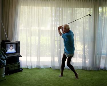 Practicing Golf Swing