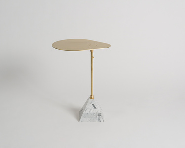 Cocktail Table with Telescopic Post