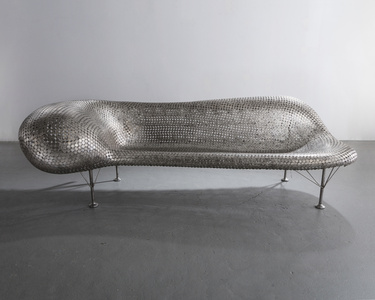 Nickel Couch in welded nickels and stainless steel