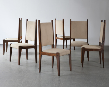 Set of six chairs in jacaranda