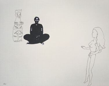 Untitled with Ibibio Figure