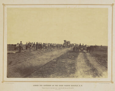 Westward The Course of Empire Takes Its Way: Laying Track 600 Miles West of St. Louis, Missouri