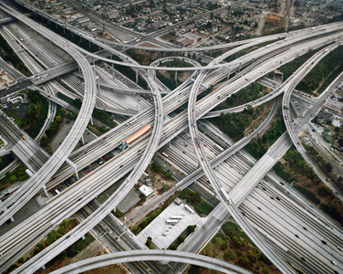 Highway #2, Intersection 105 & 110 Los Angeles, California