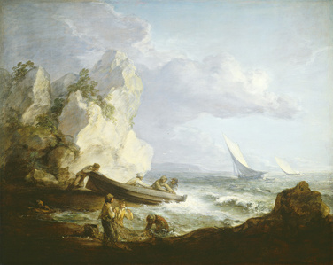 Seashore with Fishermen