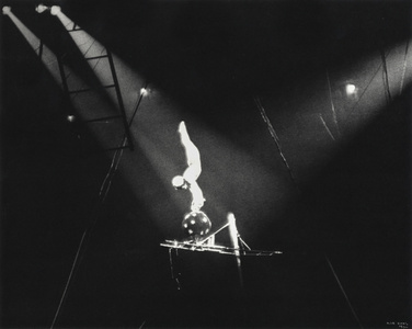 Circus Acrobat on Black Ball, New York