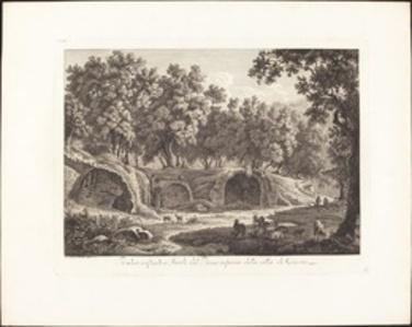 Ruderi essistenti a Tivoli del Piano inferiore della villa di Cassio