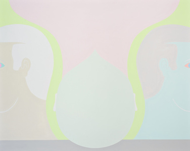 Acrobat painting (three heads)
