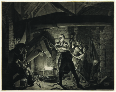 An Iron Forge (The Drop Forge), after Joseph Wright of Derby