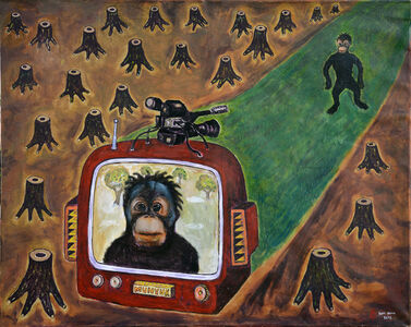 Orangutan on Real TV