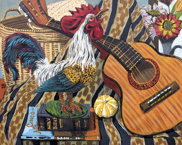 Still-life with Crowing Rooster