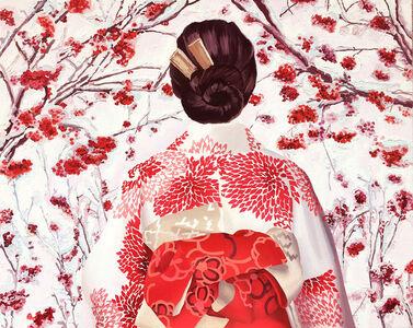Japonesa con Kimono Espigado