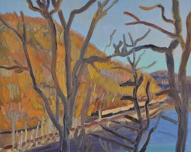 Sitting Train, Conn. River, Bellows Falls, Spring