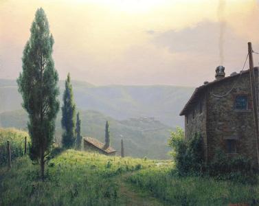 Soft Light on Tuscan Farmland