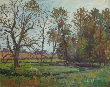 Meadow with Cow