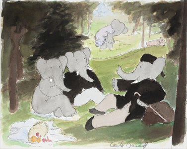 """After Manet…,"" study for Babar's Museum of Art"