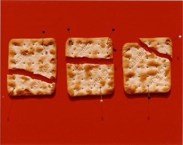 "Pinned Crackers, from the ""Experiment in Boredom"" Series"