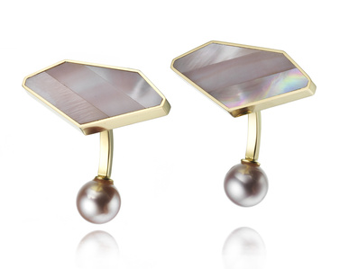 "Mother of Pearl ""Emerald"" Cufflinks"